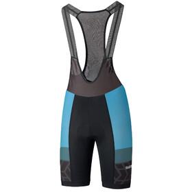 Shimano Team Bib Shorts Men, negro/azul